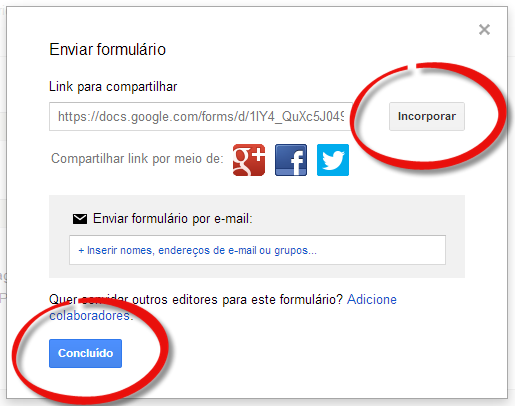 google drive incorporar