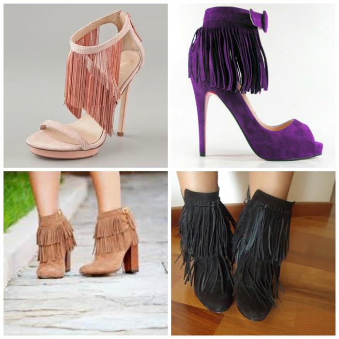 Sapato com franjas
