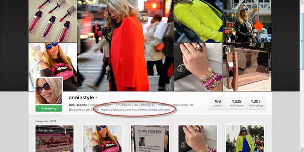 Instagram contato cbblogers