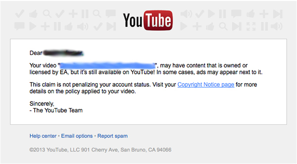 YouTube Claim Example cbblogers