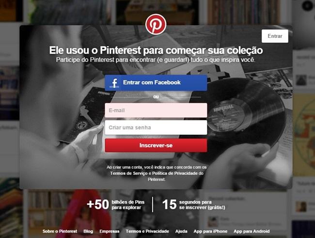 Aprendendo a usar o Pinterest