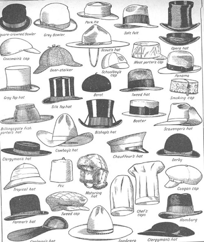 estilos de chapeu