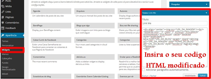 """Dicas Tech: Como inserir a caixa """"Link Me"""" no blog, parceria, link, wordpress"""