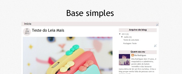 template, dica de blog, base simples, CBBlogers