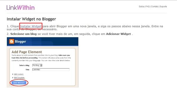 LinkWithin, postagens relacionada, Cbblogers